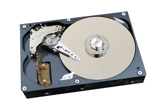 Diagram on components of hard disk